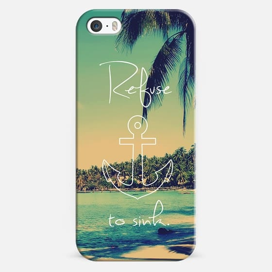 Refuse to Sink Vintage Beach Anchor - Classic Snap Case