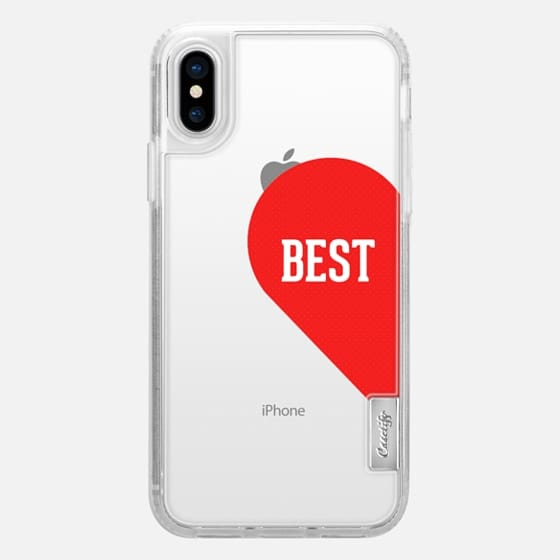 Best half heart typography design - Snap Case