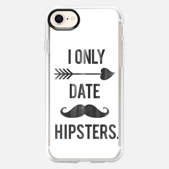 I Only Date Hipsters Mustache Cupid Design - Snap Case
