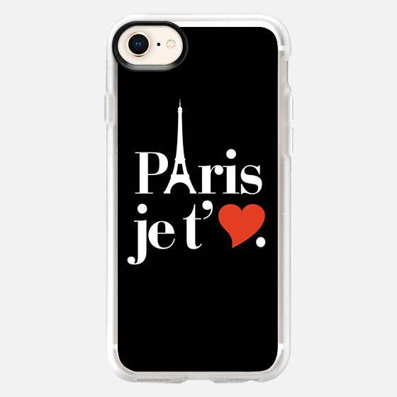 Paris je t'aime Eiffel Tower Heart Typography - Snap Case