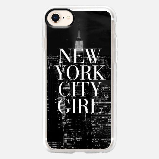 New York City Girl Black & White Manhattan Skyline - Snap Case