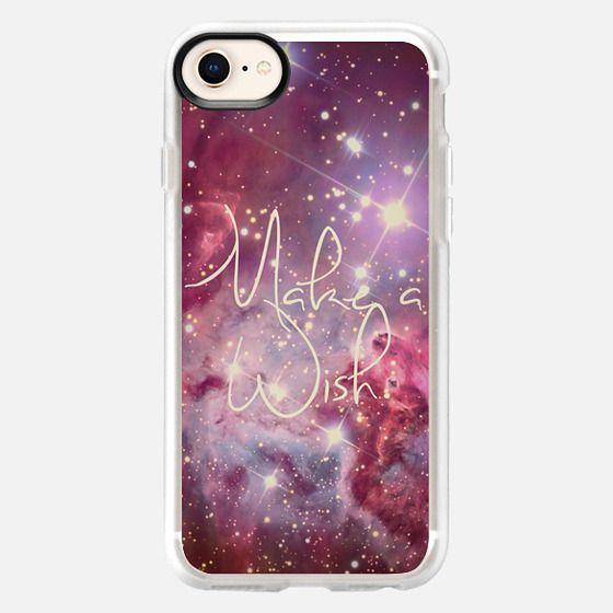 Make A Wish Vintage Nebula Galaxy Stars - Snap Case