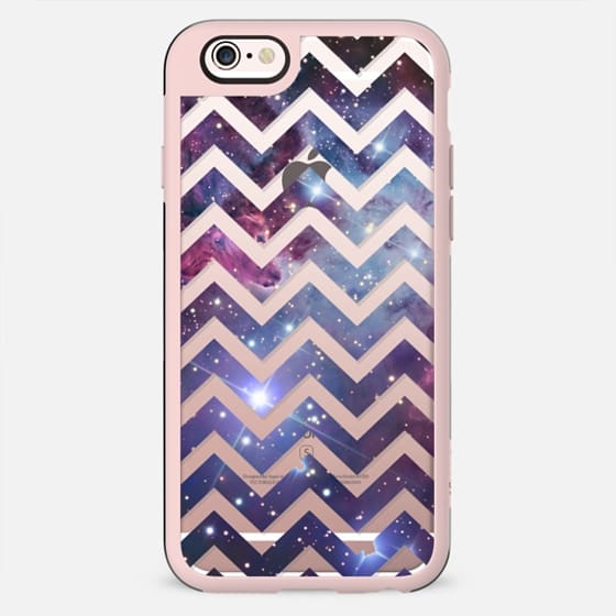 Nebula Galaxy Stars Transparent Chevron See Thru Pattern