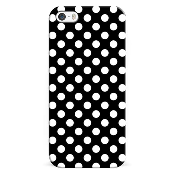 iPhone 6s Cases - Black & White Polka Dot Pattern