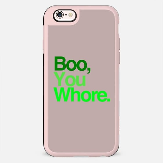 Boo, You Whore. Mean Girls Helvetica Typography. -