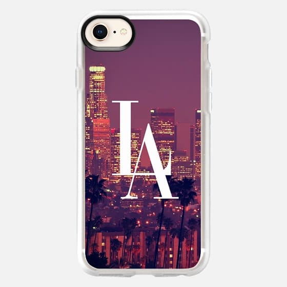 Los Angeles Downtown Skyline Vintage Typography DTLA - Snap Case