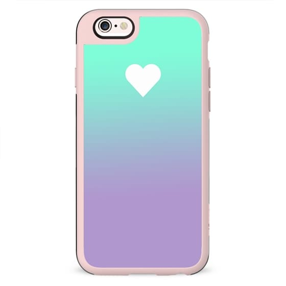 Tiffany Purple Fade Apple Heart