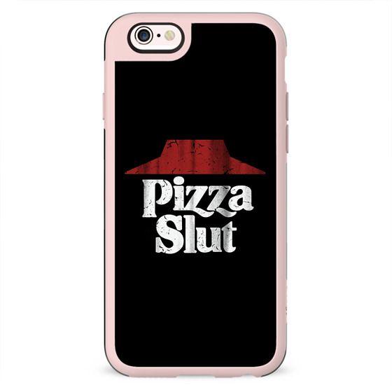 Pizza Slut Black Vintage Print