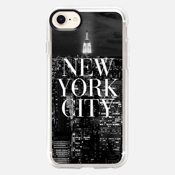 New York City Black and White Vogue Typography Skyline - Snap Case