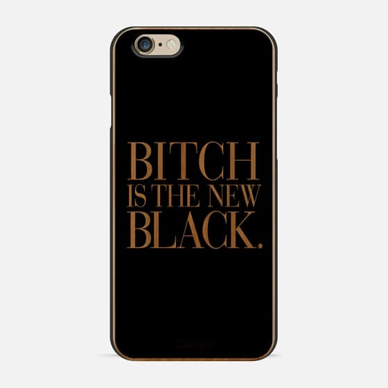 Bitch is the new Black Typography Black & White -
