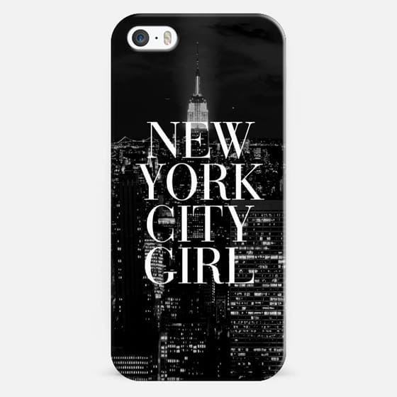 New York City Girl Black & White Manhattan Skyline - Classic Snap Case