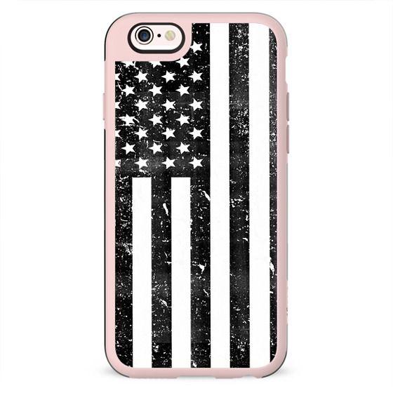 Black and White Dirty Vintage American Flag USA
