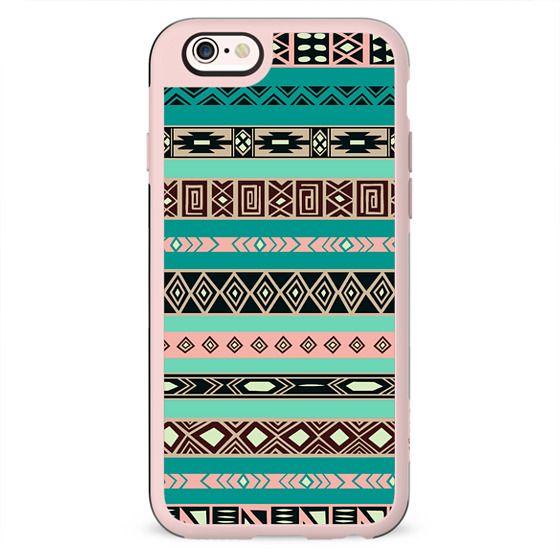 Vintage Tiffany Aztec Tribal Pattern Wood Case