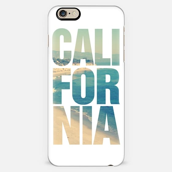 California Vintage Beach Typography iPhone 6 Case -