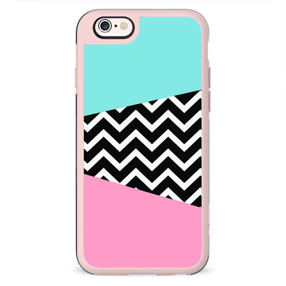 Miami Vice Pastel Chevron Blue Pink Design