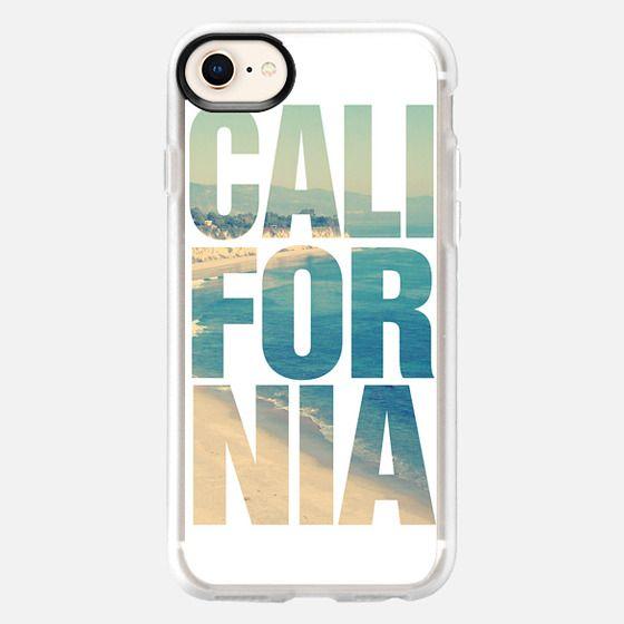 California Vintage Instagram Beach Typography - Snap Case