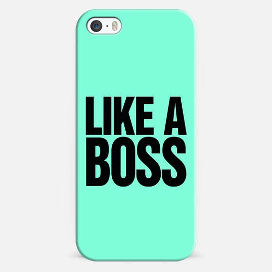 Like A Boss - Bold Tiffany Mint Typography Design. -