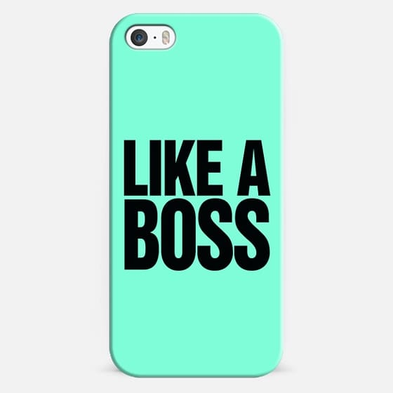 Like A Boss - Bold Tiffany Mint Typography Design. - Classic Snap Case