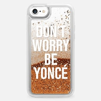 iPhone 7 ケース Don't Worry Be Yoncé Transparent Typography