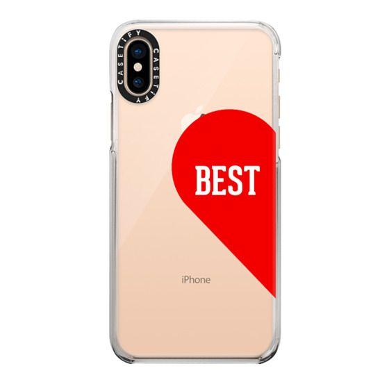 iPhone XS Cases - Best half heart typography design