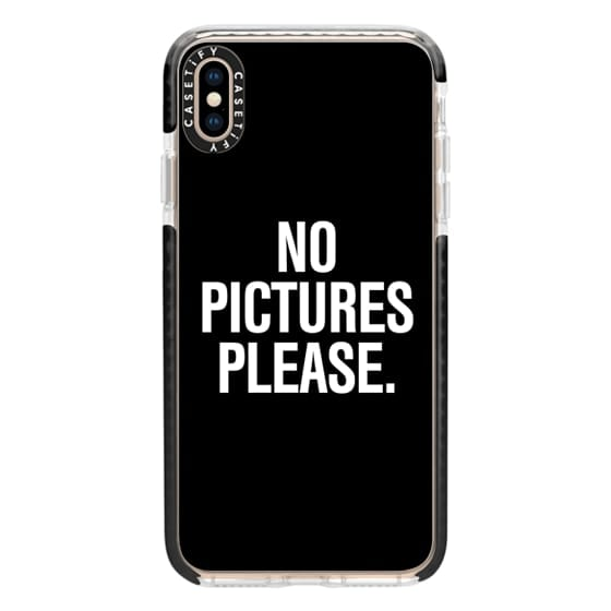 iPhone XS Max Cases - No Pictures Please.