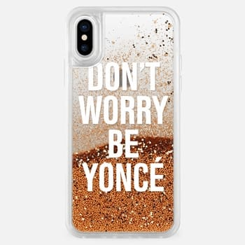 iPhone X ケース Don't Worry Be Yoncé Transparent Typography