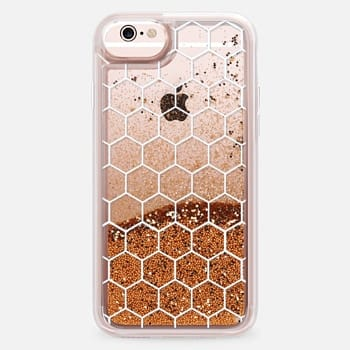 iPhone 6s Case White Honeycomb Transparent Pattern