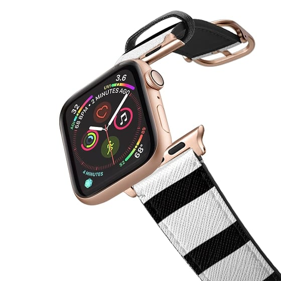 Apple Watch 42mm Bands - Simple Black and White Stripes Design