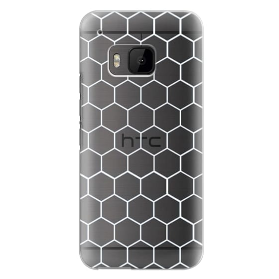 White Honeycomb Transparent Pattern