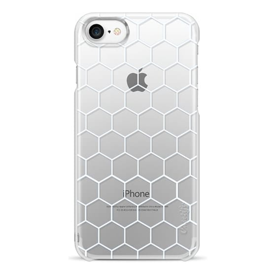 iPhone 7 Cases - White Honeycomb Transparent Pattern