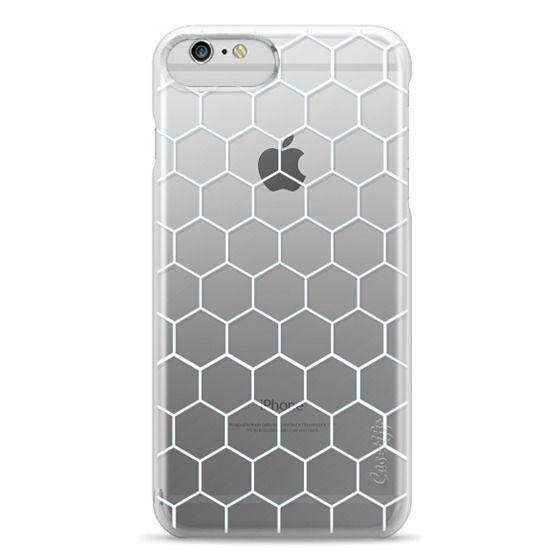 iPhone 6 Plus Cases - White Honeycomb Transparent Pattern