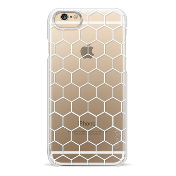 iPhone 6 Cases - White Honeycomb Transparent Pattern