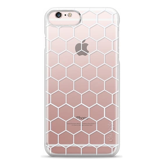 iPhone 6s Plus Cases - White Honeycomb Transparent Pattern