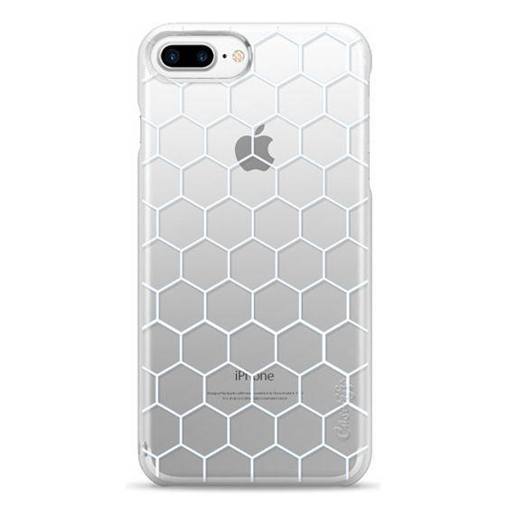 iPhone 7 Plus Cases - White Honeycomb Transparent Pattern
