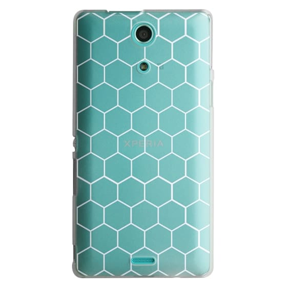 Sony Zr Cases - White Honeycomb Transparent Pattern