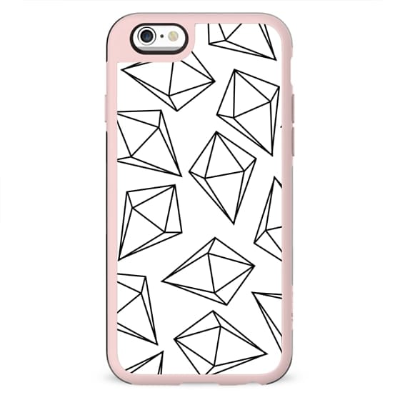 Black and White Bling Diamonds Modern Geometric Illustration