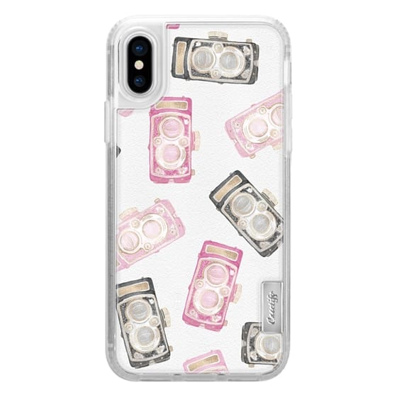 iPhone 6s Cases - Modern Girly Pink Blush Black Watercolor Paper Faux Gold Camera Lens