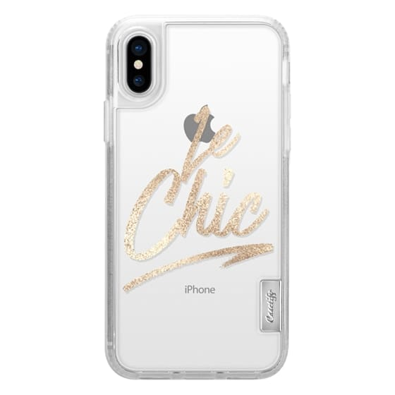 iPhone 6s Cases - Le Chic Brushstroke French Quote Typography Glamorous Faux Gold