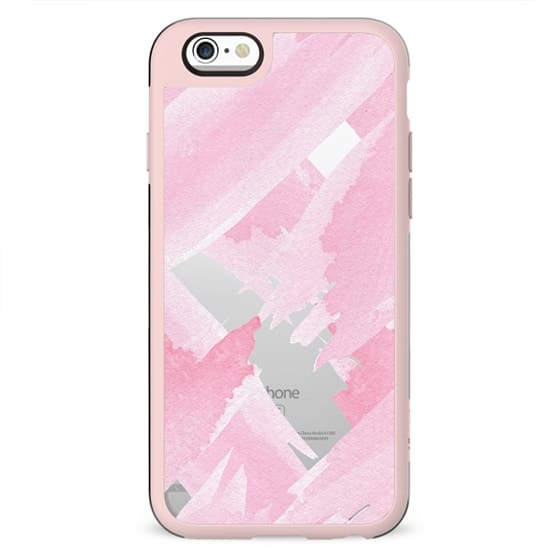 Girly Pink Watercolor Giant Brushstrokes Paint