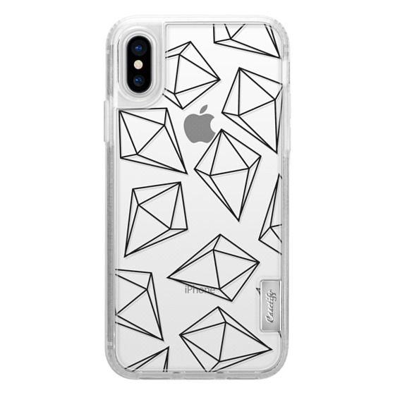 iPhone 6s Cases - Black Bling Diamonds Modern Geometric Illustration