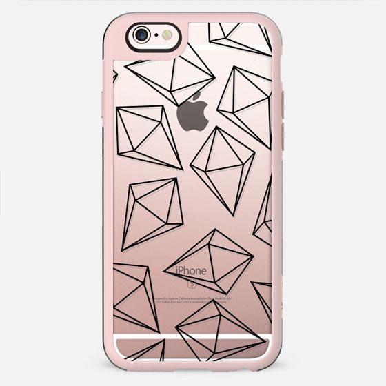 Black Bling Diamonds Modern Geometric Illustration - New Standard Case