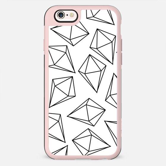 Black and White Bling Diamonds Modern Geometric Illustration - New Standard Case
