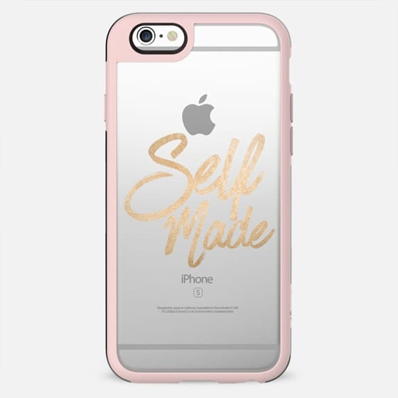Self Made Faux Gold Brushstroke Typography - New Standard Case