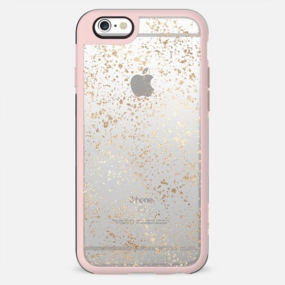 Glamorous Faux Gold Abstract Speckles