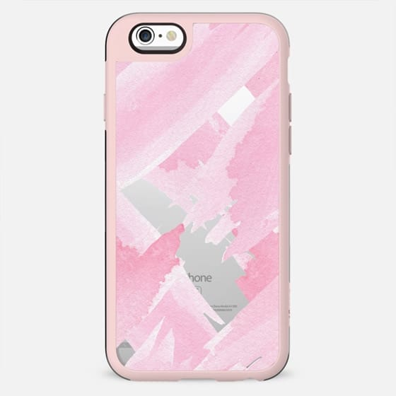 Girly Pink Watercolor Giant Brushstrokes Paint - New Standard Case