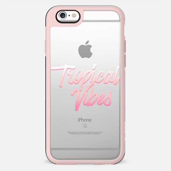Pink Summer Gradient Tropical Vibes Brushstroke Typography - New Standard Case