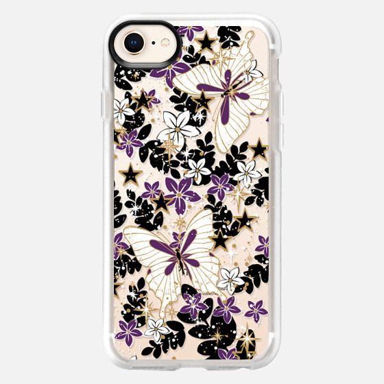'The secret garden-purples, transparent' by Lucia - Snap Case