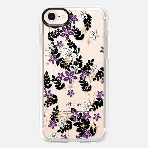 'the secret garden-purples, transparent' by Lucia - Snap Case