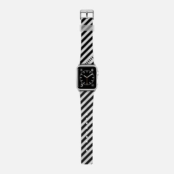 black & white & black & white stripes -