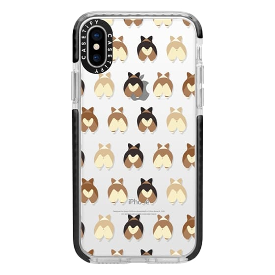 iPhone X Cases - Corgi Butts